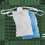 Трусы женские бикини Спанбонд размер 44-48 Голубой,белый 25 шт/уп