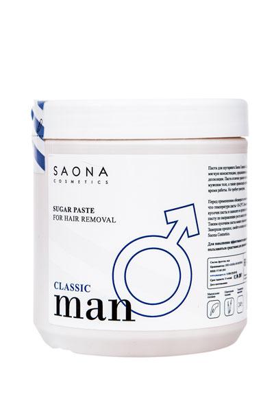 Сахарная паста для мужского шугаринга Saona Cosmetics КЛАССИЧЕСКАЯ (CLASSIC), без разогрева