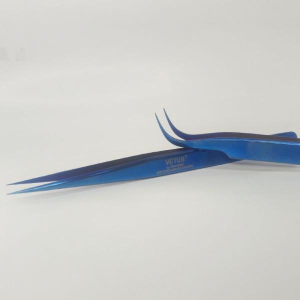 Пинцеты VETUS Синий (прямой и изогнутый)
