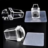 Прозрачный силиконовый штамп для ногтей квадратная