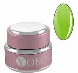 Цветной УФ-гель YOKO Зеленый неон