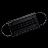 Маска Черная 3-х слойная на резинках 50 шт