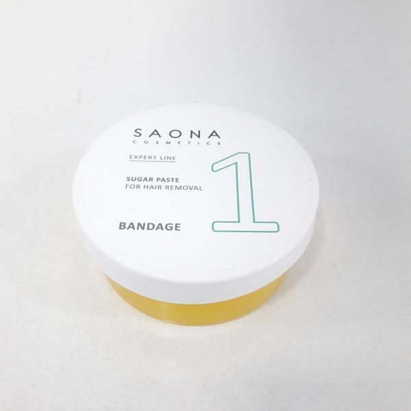 Сахарная паста для шугаринга Saona Cosmetics 1 БАНДАЖНАЯ (BANDAGE), с разогревом 200гр