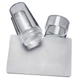 Прозрачный силиконовый штамп для ногтей