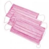 Маска Розовая 3х слойная на резинках 50 шт